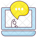 Online Chat Online Communication Online Messaging Icon