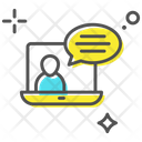 Online Chat Video Call Monitor Icon