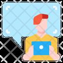 Online Speech Bubble Communication Icon