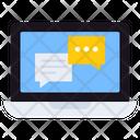 Online Chat Online Communication Online Conversation Icon