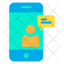 Mobile Online Chat Chat Bubble Mobile Icon