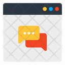 Online Chat Online Communication Web Chat Icon