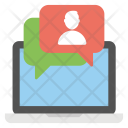 Online Chatting Live Icon