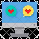 Computer Love Message Icon