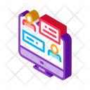 Discussion Network Online Icon