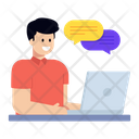 Online Chatting Online Talk Online Messaging Icon