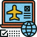 Online Booking Airplane Icon