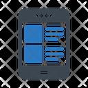 Mobile Phone List Icon