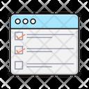 Checklist Webpage Browser Icon