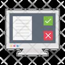 Checklist Accept Decline Icon