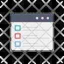 Online Checklist Todo List Webpage Icon