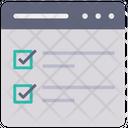 Online Checklist Todo List Checklist Icon