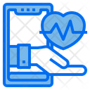 Online Checkup Heart Rate Healthcare Icon