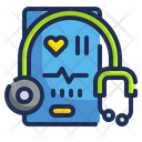 Online Checkup Stethoscope Medical Icon