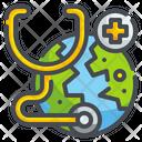 Online Checkup International Doctor World Icon
