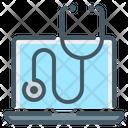 Online Checkup Stethoscope Online Medicine Icon