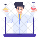 Online Chemistry Class Icon