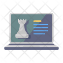 Online Chess Online Strategy Online Rook Icon