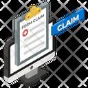Online Claim Claim Form Online Form Icon