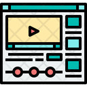 Online Class Video Tutorial Online Video Tutorial Icon