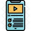 Mobile Online Learning Icon