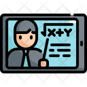Tablet Online Learning Icon