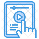 Tablet Elearning Audio Book Icon
