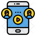 Smartphone Online Elearning Icon