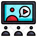 Online Class Conference Online Course Icon