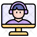 Online Class Education Study Icon