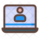 Online Class Videocall Online Learning Icon