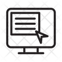 Online Cursor Webpage Icon