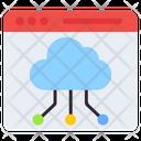 Online Cloud Network Web Cloud Network Cloud Connect Icon