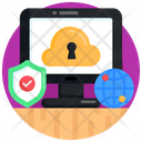 Cloud Computing Online Cloud Security Cloud Protection Icon