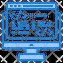 Online Coding Web Coding Coding Icon