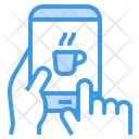Mobile Phone Coffee Cup Smartphone Icon