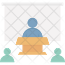 Online Collaboration Telepresence Video Conferencing Icon