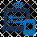 Online Collaboration Internet Network Online Network Icon
