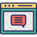 Online Comment Feedback Review Icon