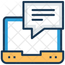 Online Communication Conversation Icon