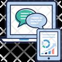 Online Communication Data Infographic Data Analytics Icon