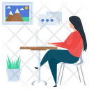 Online Communication Online Chatting Gossips Icon