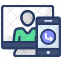 Online Communication Online Conversation Video Call Icon