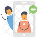 Online Communication Online Conversation Online Chatting Icon