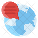 Online Communication Online Conversation Global Chat Icon