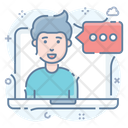 Online Communication Online Consultation Online Chat Icon