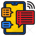 Online Communication Message Call Icon