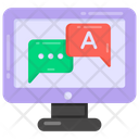 Online Chat Online Communication Monitor Communication Icon