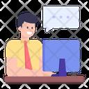 Online Chat Online Communication Online Talk Icon