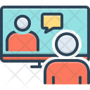 Online Conference Meeting Room Hall Icon